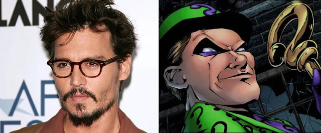 Johnny Depp as The Riddler casting on purpose