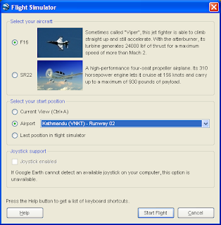 Marco's Blog: Google Earth Flight Simulator