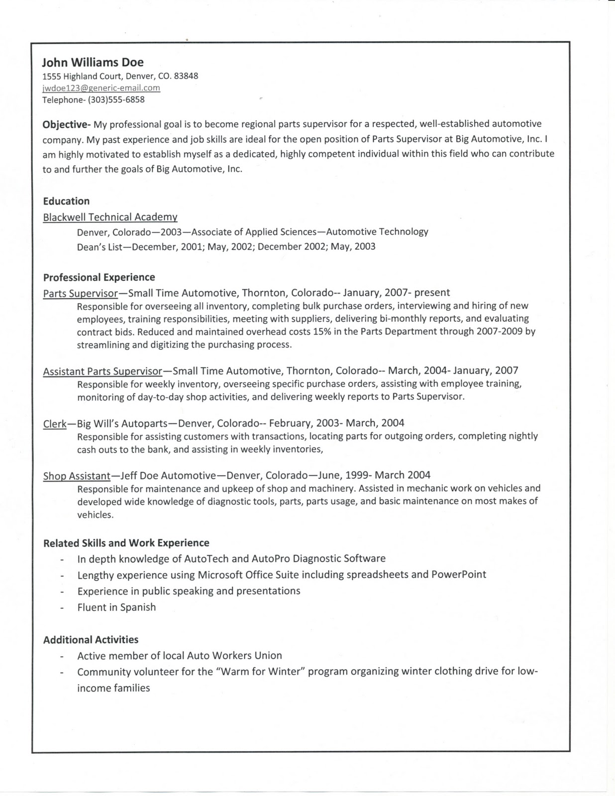e526 guide to creating a solid resume