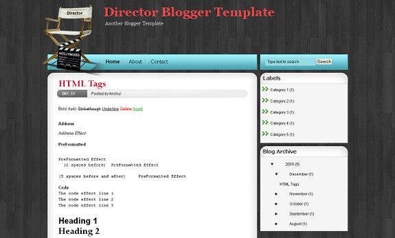 Movies Director Tempalte