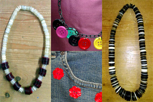 button necklaces and pocket embellishment