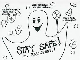 Halloween Safety Coloring Pages Printable