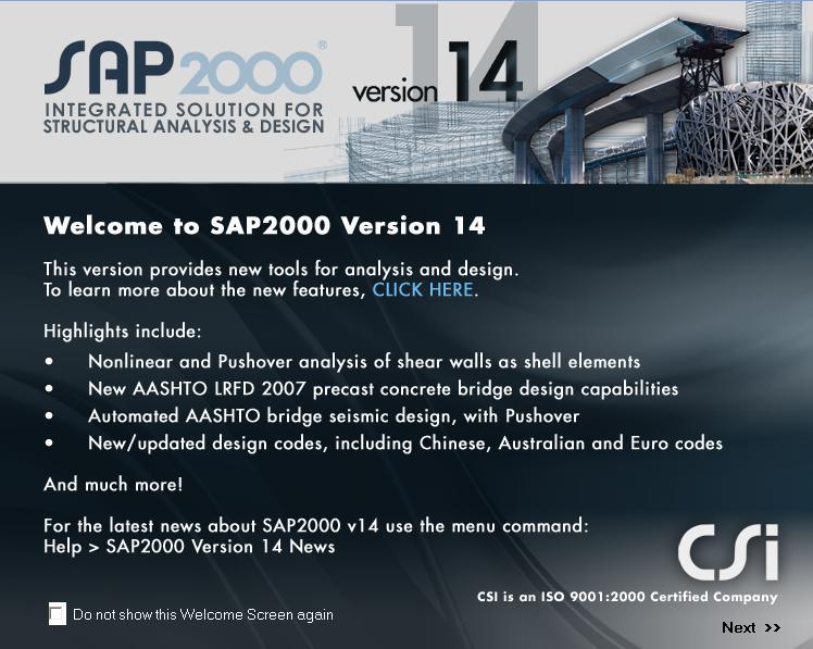 Download Sap 2000 Version 14