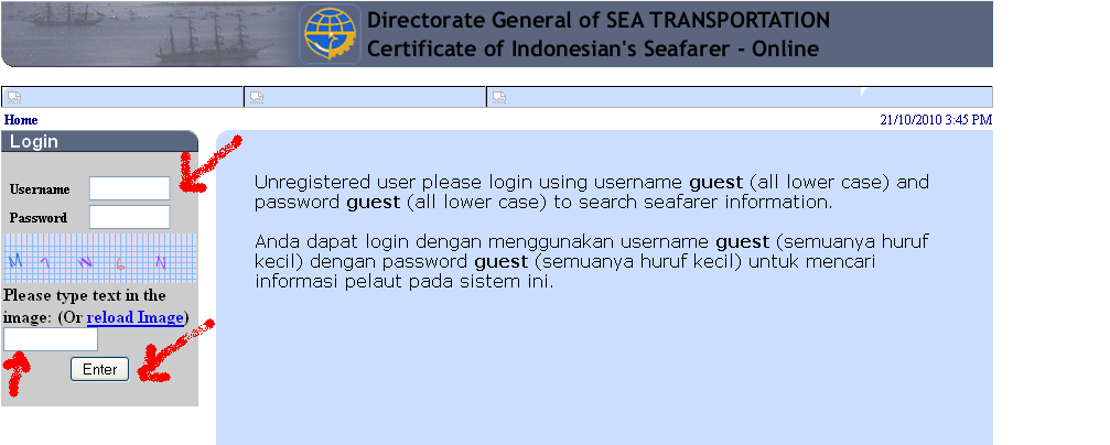 Go to ' Search seafarer or certificate '