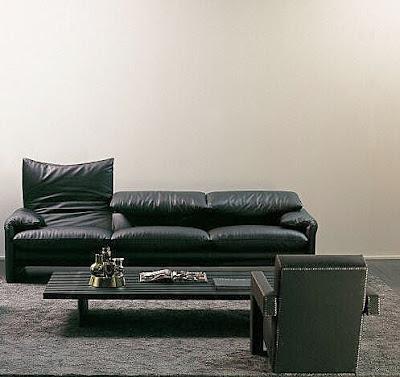 foto sala moderna negra