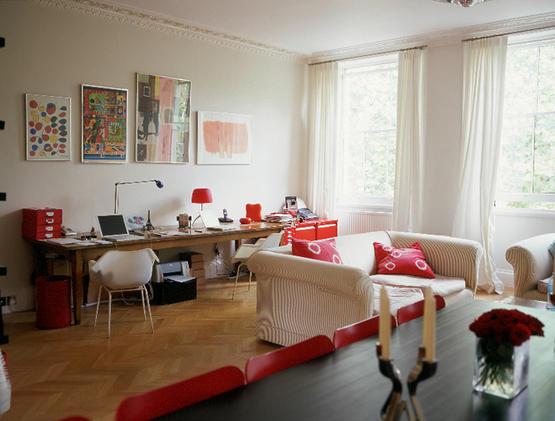 Decoracion Living Rojo ~ La tercera foto nos muestra muebles y accesorios en color rojo Ideal