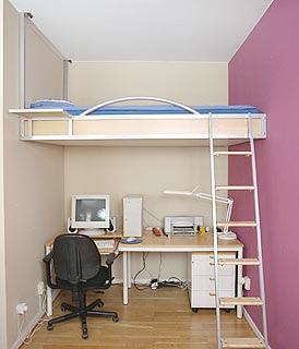 Decora y disena camas juveniles peque os espacios - Dormitorios juveniles espacios pequenos ...