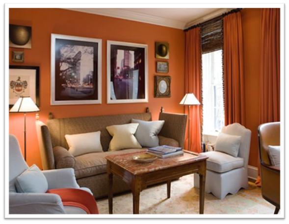 Decora y disena decoraci n interior de salas colores for Colores de paredes interiores