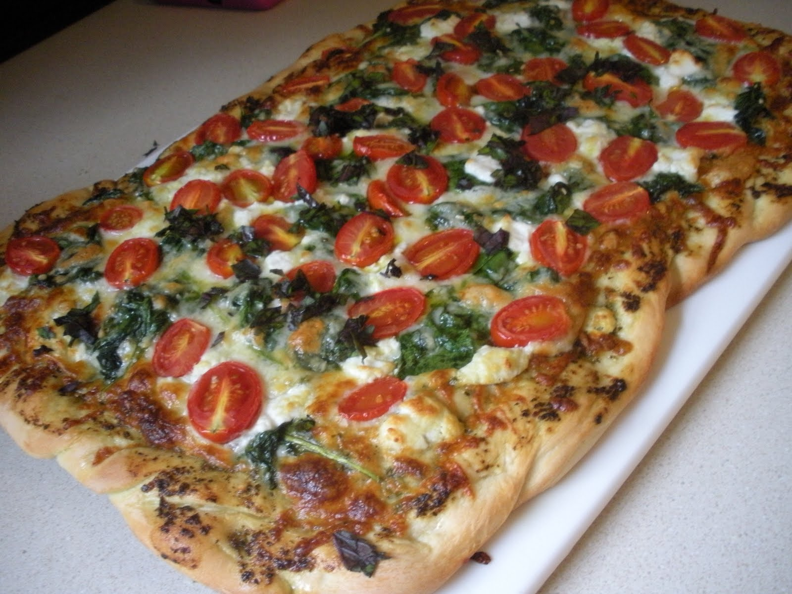 Bourbon and Chocolate: Pizza Night - Pesto Cheese Pizza