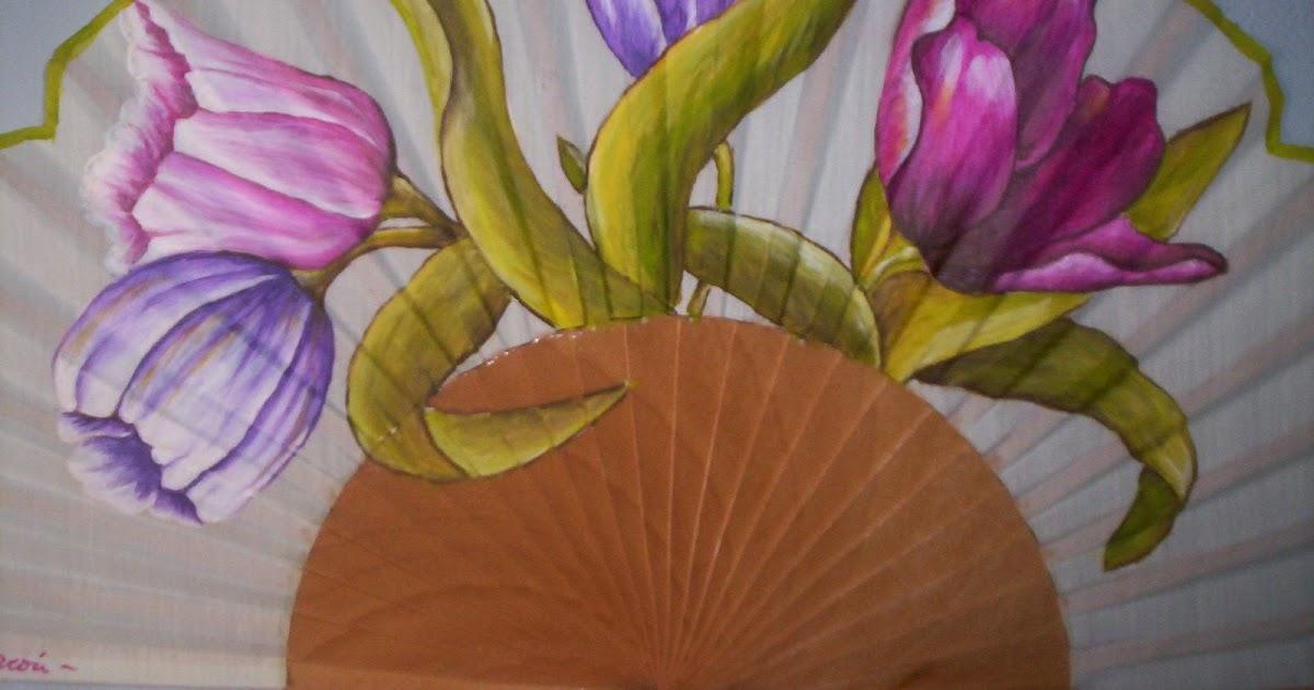 Abanicos exclusivos y originales abanico de flores - Abanicos pintados a mano originales ...