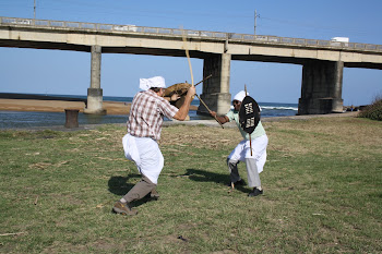 Two Indain men learnt to stick flight - Zulu Traditional fight