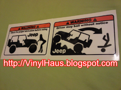 Jeep Funny Stickers on Jeep Stickers  Design Supplied By Customer   Check For Proper