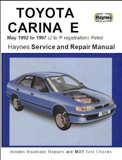 repair manuals 1992 1997 Toyota Carina Corona Exior