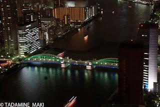Bridge at night, Tokyo