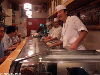 Sushi restaurant, Suhi Dai, Tsukiji, Tokyo, Japan