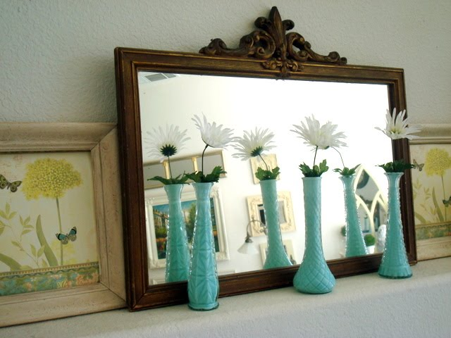 Gorgeous aqua blue vases