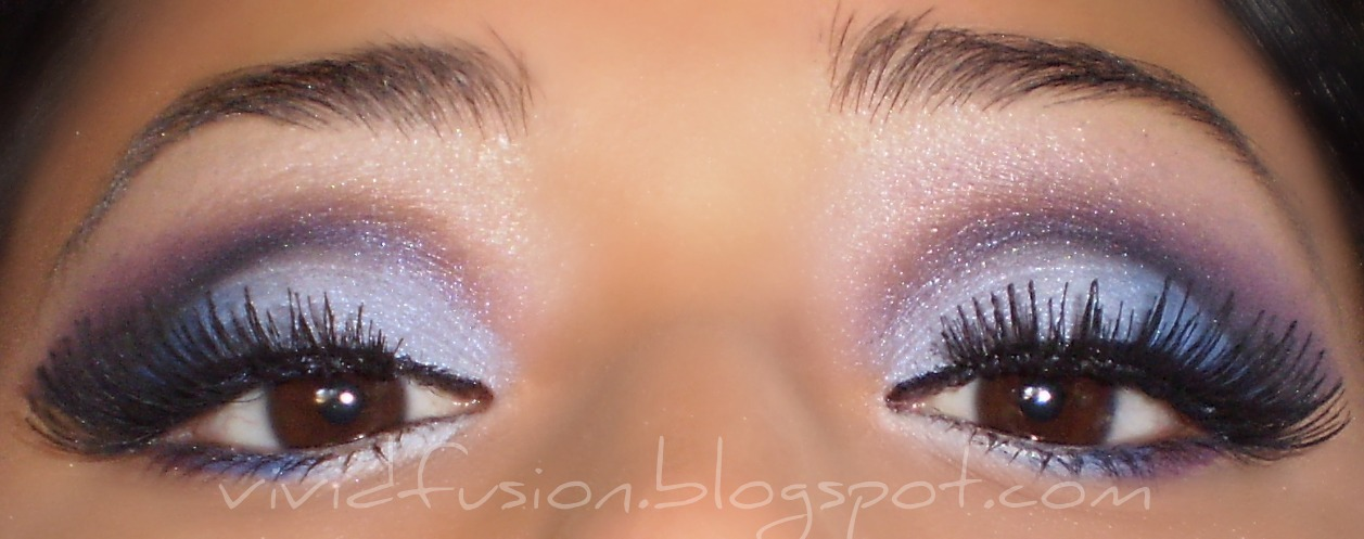 blue and purple makeup. Makeup tutorial: Icy lue and