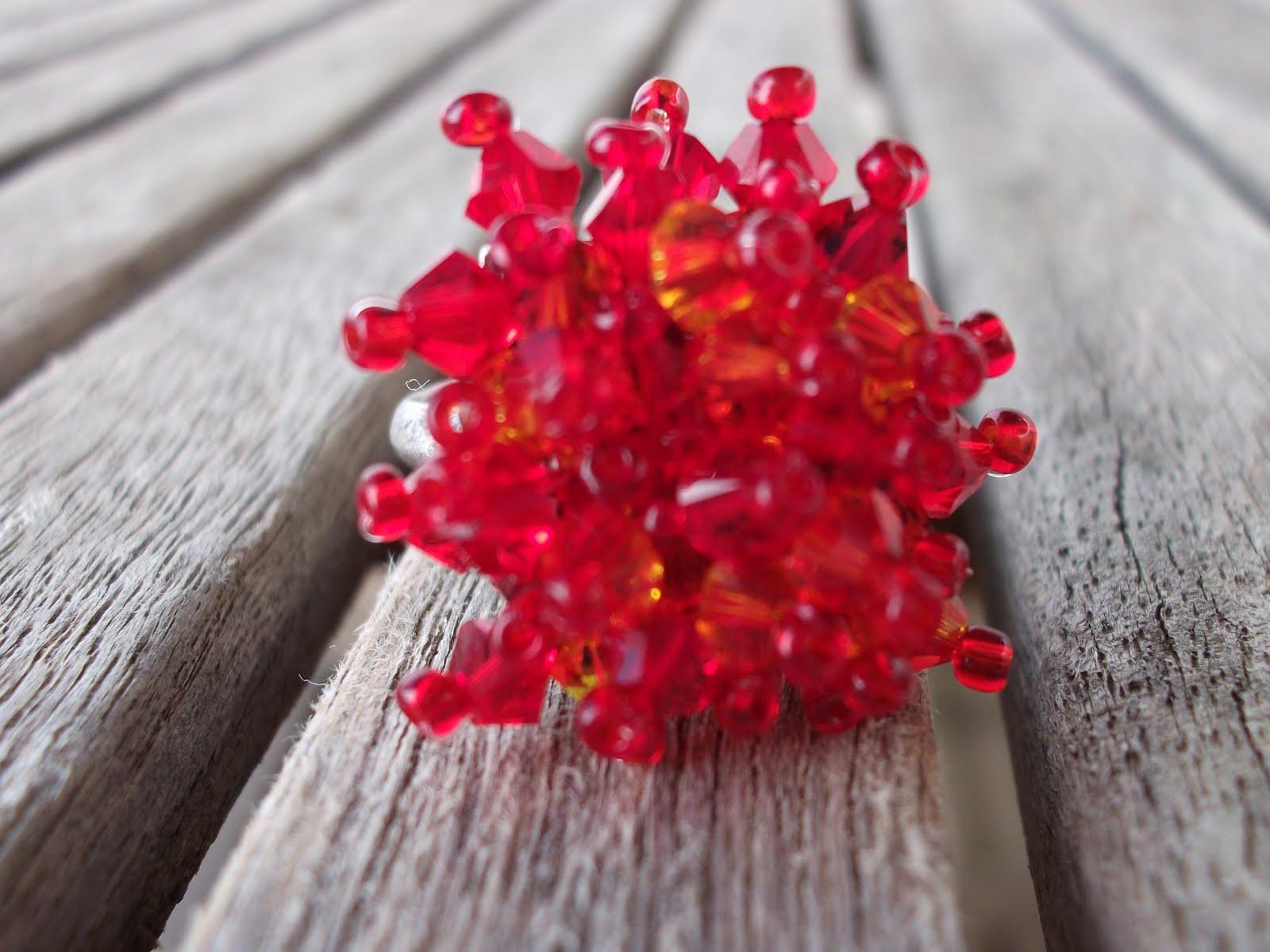 Hoy tengo poco tiempo, pero prometo que muy pronto os dejaré más cositas de bisutería mientras tanto, disfrutad de este bonito anillo!!!