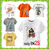GAP T-shirt for boys RM25