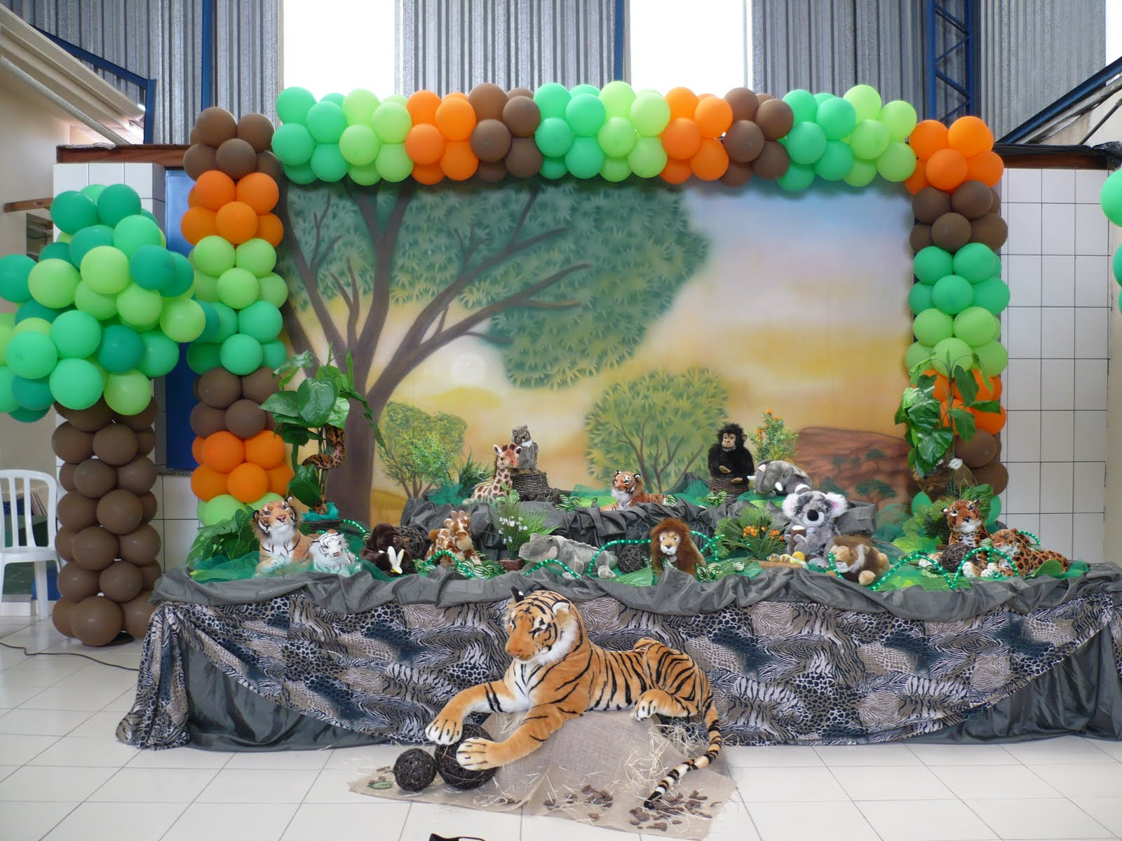 decoracao festa safari : decoracao festa safari:Hollybaby Decorações de Festas Infantis: Safari / Floresta