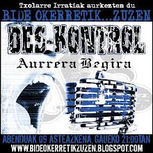 "DES-KONTROL... ""Aurrera begira"""