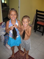 The kids donate their hair to Locks for Love