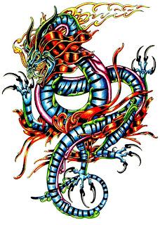 tatto de cobra dragão, desenho