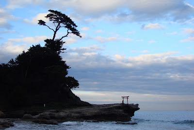 La plage de Shirahama à Izu