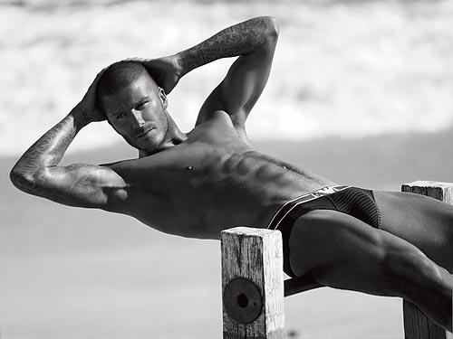 david beckham playing soccer shirtless. The soccer heartthrob - who