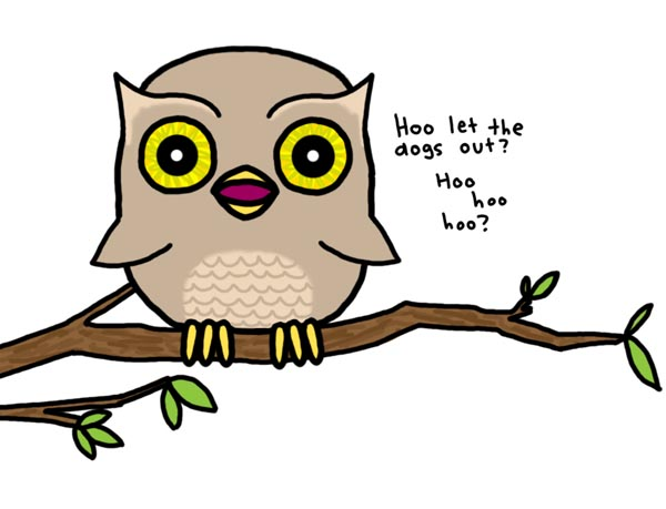 "A little owl from Natalie Dee. ""A wise old owl sat on an oak;"