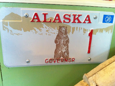 Alaska governor license plate