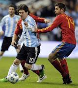 . deportivo entre los equipos de futbol de España Vs. Argentina - Futbol . amistoso espa vs argentina