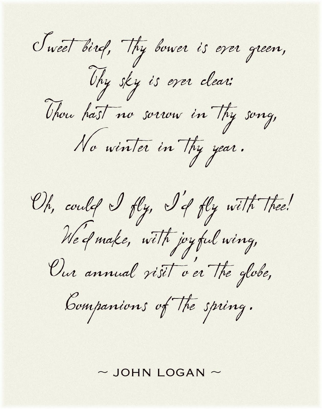 birds poems