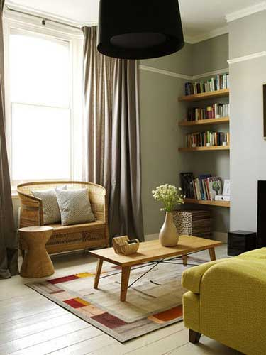delegating space in a small living room will require you to go the