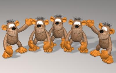 5 majmuna