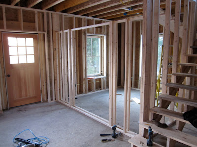 Today Involved Building The Wall Between The Living Room Area And The  Office Space. This Is A Wall With Double Pocket Doors. The Doors Will Roll  Into The ...