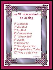 Los 10 mandamientos de una bloguera