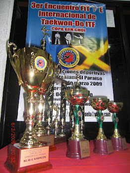 """Premiaciones del 3er Encuentro FITVE  Internacional de TaeKwon-Do ITF """"Copa General Choi"""""""