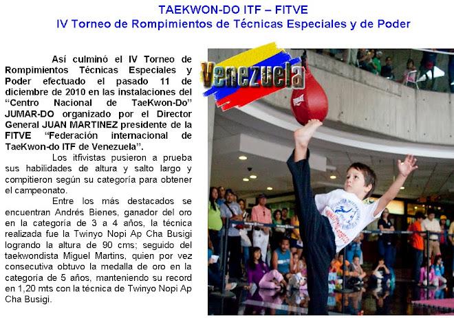 IV Torneo de Tecnica Especiales y Poder de Rompimiento
