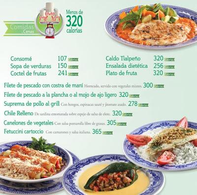 I sanborns comidas y cenas deliciosas ligeras y for Menu de cenas