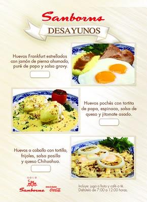 I sanborns desayunos especiales de abril una for Menu de sanborns