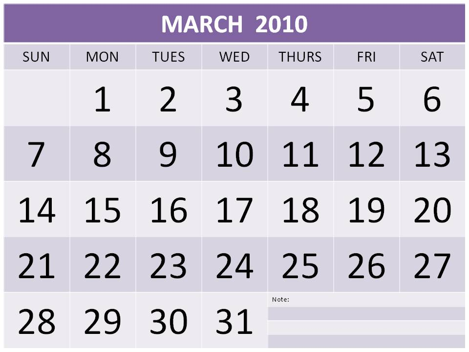 monthly calendar march. Monthly+calendar+march+