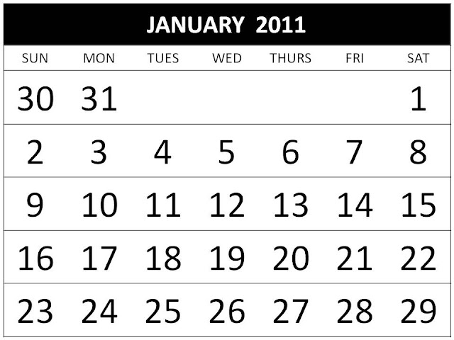 2011 calendar printable one page. adobe printable one page excel
