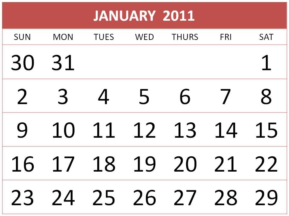 Download : Free Homemade Calendars 2011 Design 2
