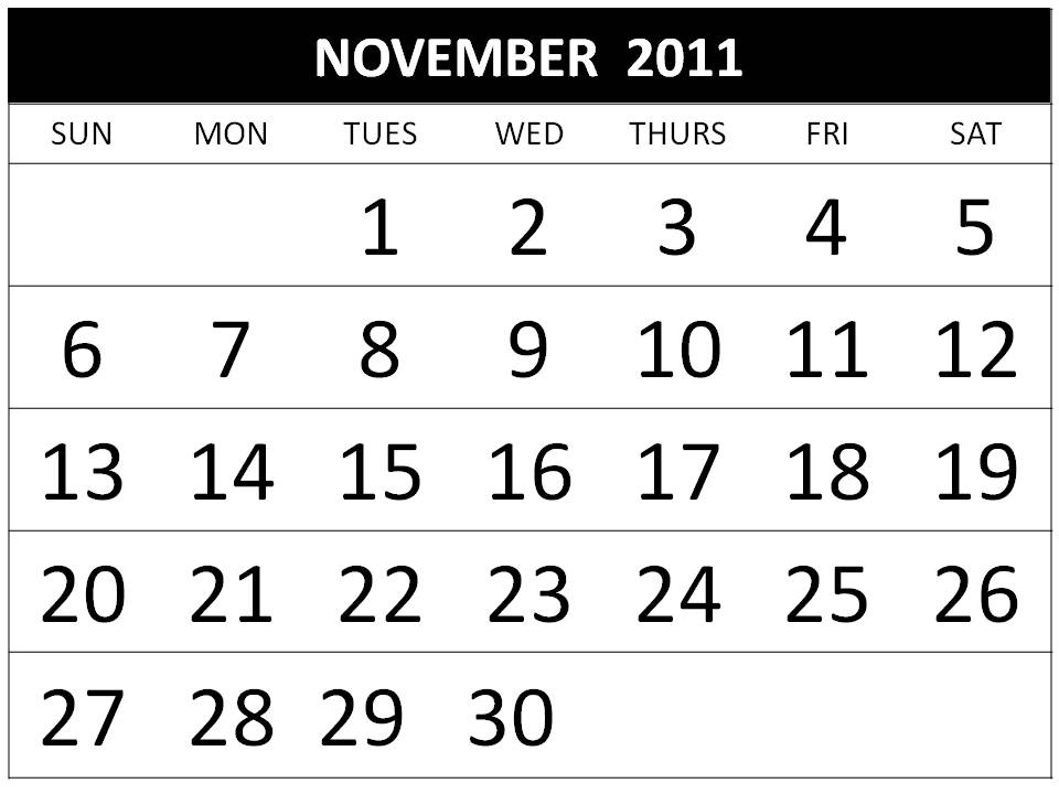 On this website you can find : Free November 2011 Calendar Printable / 2011