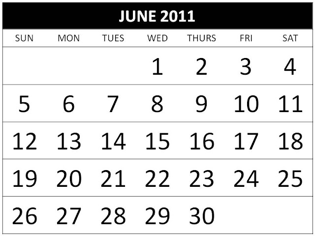 june 2011 calendar with holidays. june 2011 calendar with