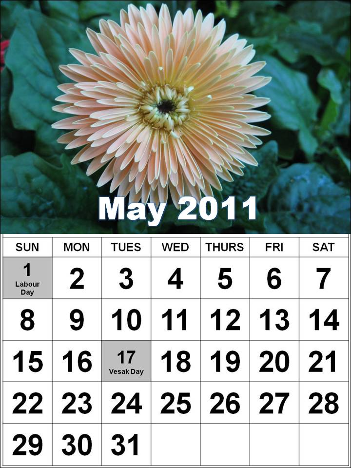 may 2011 calendar with holidays. may 2011 calendar with