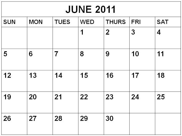 june 2011 calendar. makeup june 2011 calendar