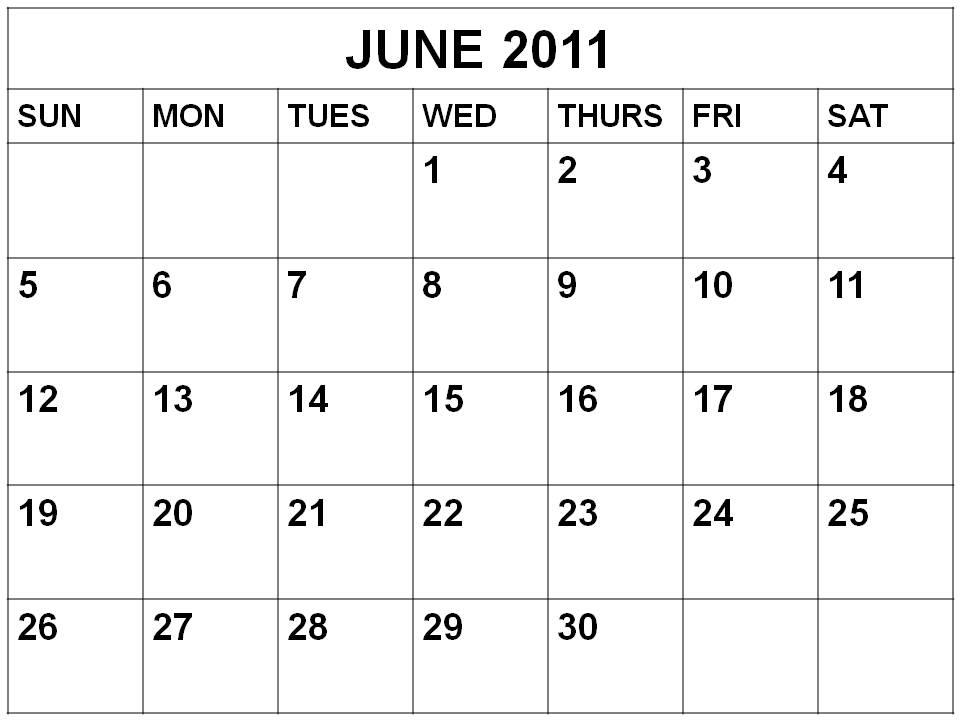 2011 Calendar Printable Pdf. 2011 calendar june