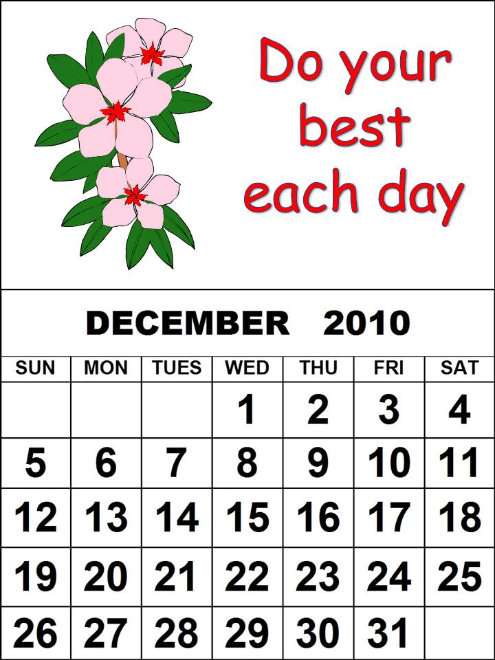 calendar template 2010. tattoo 2010-Calendar-Templates